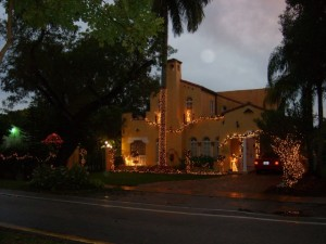 Coral Gables Real Estate Photos -- Christmas House 2