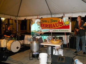 Coral Gables Real Estate Photos -- Bill Wharton, Sauce Boss, at Fritz & Franz Bierhaus Bluesfest