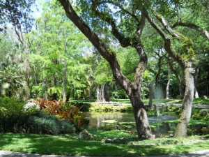 Coral Gables Real Estate Photos -- Private Fountain -- Ponce Davis 1