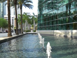 Miami Real Estate Photos -- Fountain at Espirito Santo Building -- 1395 Brickell Ave. (2)