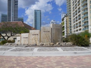 Miami Real Estate Photos -- Fountain at S. Miami Ave. & SE 15 Rd. -- Brickell