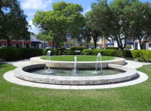 Coral Gables Real Estate Photos -- Fountain at Fred B. Hartnett Ponce Circle Park (2)
