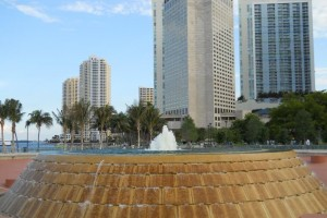 Miami Real Estate Photos -- Mildred and Claude Pepper Fountain -- Bayfront Park