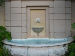 Coral Gables Real Estate Photos -- Biltmore Courtyard -- Wall Fountain -- 2