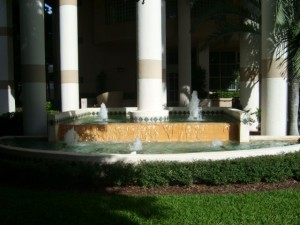 Miami Real Estate Photos -- Isola Condo -- Fountain