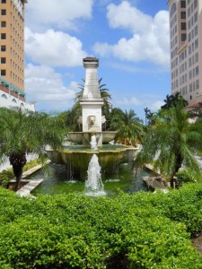 Coral Gables Real Estate Photos -- Fountain at Alhambra Plaza Median -- 99 Alhambra Plz (1)