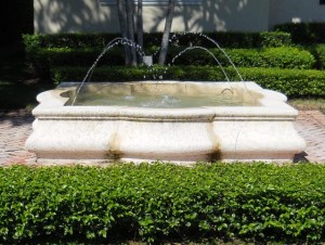 Coral Gables Real Estate Photos -- Private Fountain -- North Gables