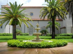Coral Gables Real Estate Photos -- Fountain at Church of the Little Flower (St. Teresa) (2)