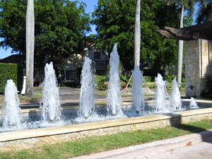 Coral Gables Real Estate Photos -- Fountain at Cocoplum Entrance