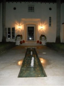 Coral Gables Real Estate Photos -- Fountain at Private Home -- Biltmore Hotel Neighborhood