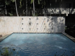 Coral Gables Real Estate Photos -- Fountain at University or Miami School of Law (UM La w School)